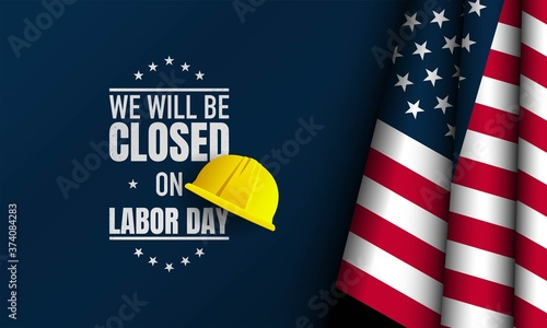 Valokuva Labor Day Background. Vector Illustration