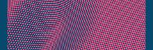 Wavy Surface With Optical Illusion. Abstract Polka Dots Pattern. Vector Illustration.