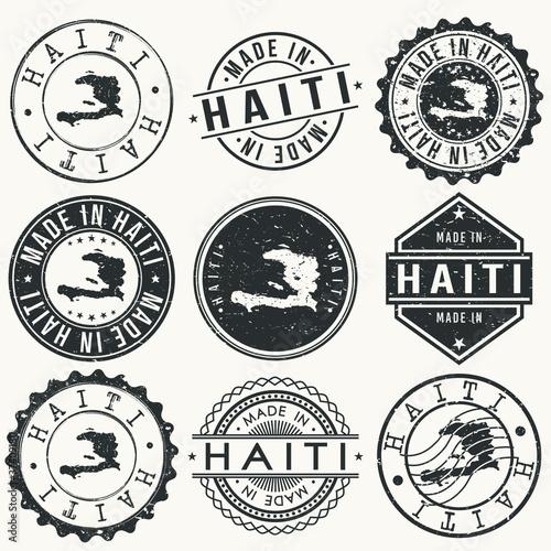 Haiti Travel Stamp Made In Product Stamp Logo Icon Symbol Design Insignia Wallpaper Mural