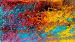 canvas print picture - Abstract watercolor background with coloured spectrum