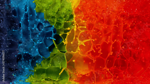 Abstract watercolor background with coloured spectrum