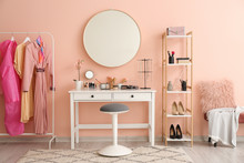 Stylish Interior Of Modern Dressing Room