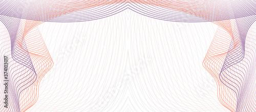 Fotografie, Obraz Purple, orange symmetric vignette