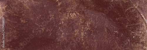 Fotografie, Obraz old scratched worn brown leather background and texture