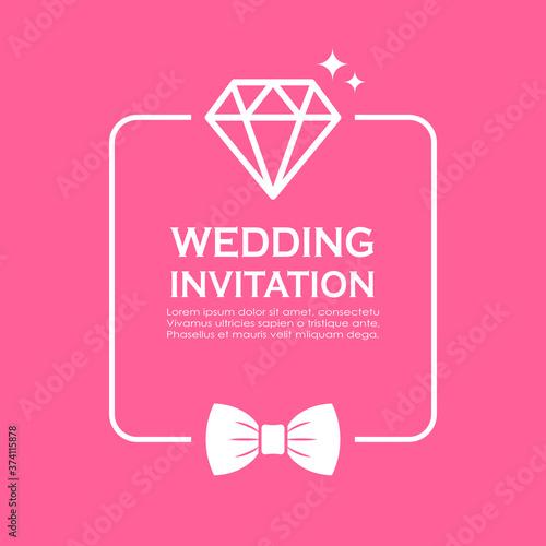 Wedding invitation card vector design Canvas Print