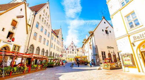 Slika na platnu Tallinn old town panoramic view, Estonia
