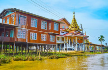 Pagodas On Inle Lake, Ywama, M...
