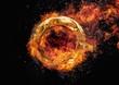 燃える金属の輪