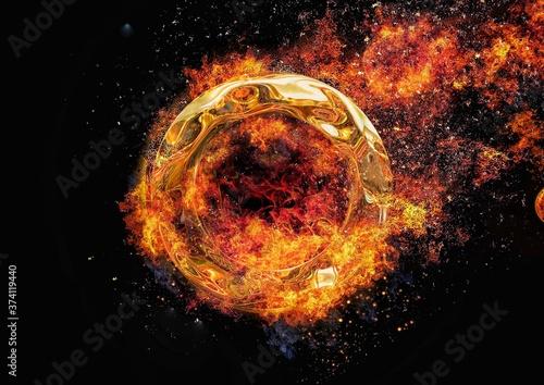 Fotografía 燃える金属の輪
