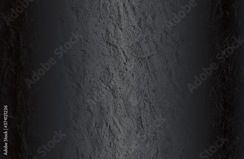 Fotografie, Tablou Luxury black metal gradient background with distressed cracked concrete texture