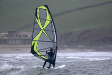 Windsurfer In Bigbury Bay, Devon