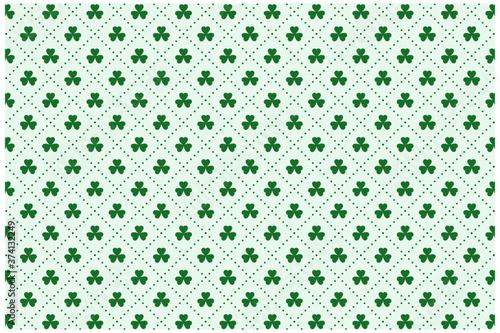 Fotografie, Tablou clover leaves pattern for st patricks day
