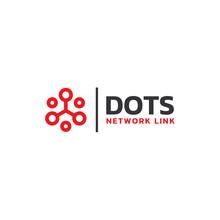 Modern Digital Dots Link Network Connection Logo Design