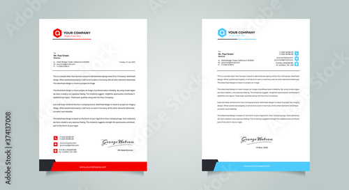 Obraz na plátně Business style letter head templates for your project design, Vector illustratio