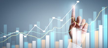 Businessman Plan Graph Growth ...