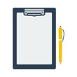 Icon Of Tablet And Pen