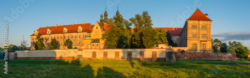 Obraz na plátně Buildings of the Cistercian abbey in Lubiąż, Poland in Lower Silesia, former Ger