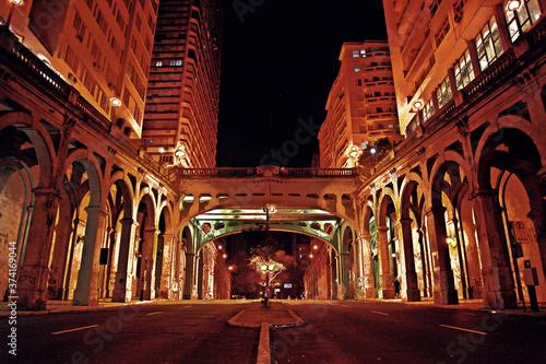 Slika na platnu Viaduto Otávio Rocha - Porto Alegre