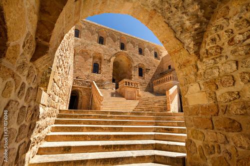 Historical Dayrul Zafaran Syrian Orthodox monastery complex in Mardin, Turkey Wallpaper Mural