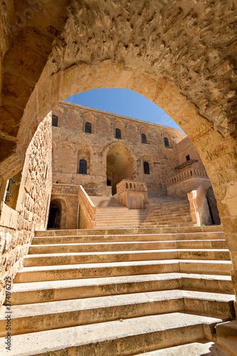 Historical Dayrul Zafaran Syrian Orthodox monastery complex in Mardin, Turkey Canvas Print