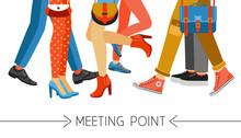 Men And Women Legs And Footwear