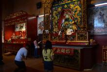 People Praying To Buddha At Kuala Lumpur Malaysia