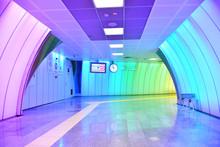 Colorful Subway Pedestrian Tun...