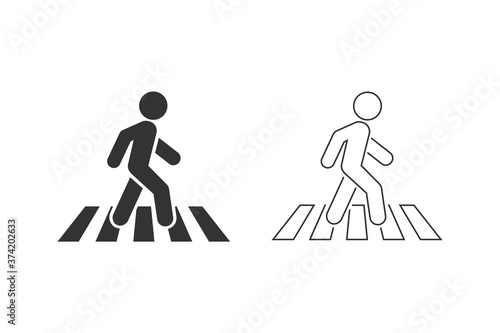 Fotografija Crosswalk line icon symbol logo template. Vector