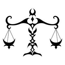 Libra Zodiac Sign Isolated On White Background.