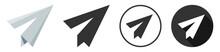 Paper Plane Icon Logo Flat Des...
