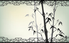 Old Chinese Traditional Bamboo...