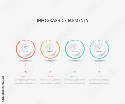 Foto Presentation business infographics template
