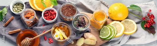 Fotografie, Obraz Homemade remedy for cold and flu