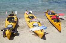 Three Yellow Sea Tandem Kayak ...