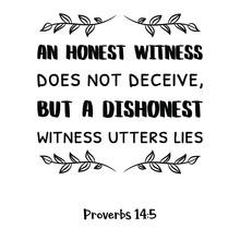 An Honest Witness Does Not Dec...