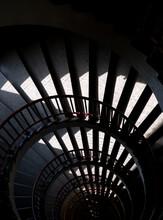Spiral Staircase With Dark Sha...