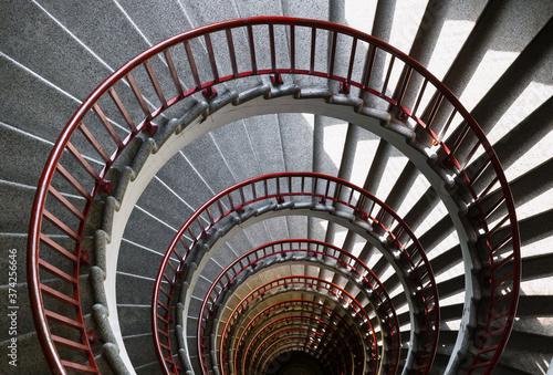 Fotomural spiral staircase
