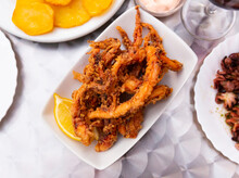 Deep Fried Crispy Squid Tentac...