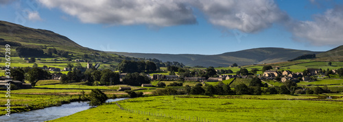 The view to Hawes across the river Ure #374267289