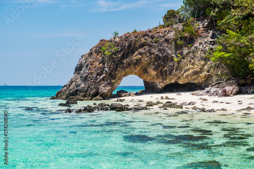Fototapeta Beautiful beach at Talang Island, Satun, Thailand