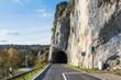 canvas print picture - Felstunnel bei Thiergarten im Oberen Donautal. Herbststimmung im Naturpark Obere Donau. Landkreis Sigmaringen, Baden-Württemberg, Deutschland