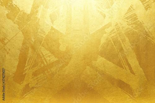 Tela 高級感のある金屏風のフレーム