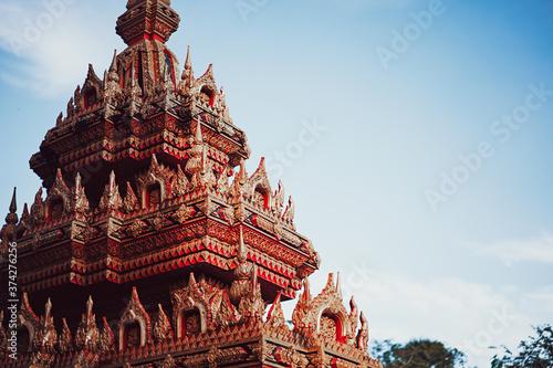 Fototapeta Decoration of Buddhist temple in Thailand.
