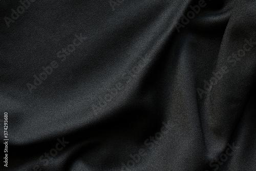 Obraz na plátně Black fabric luxury cloth texture pattern background