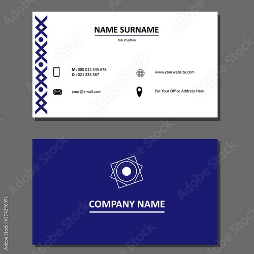 Foto Creative and Simple Business Card Template Design