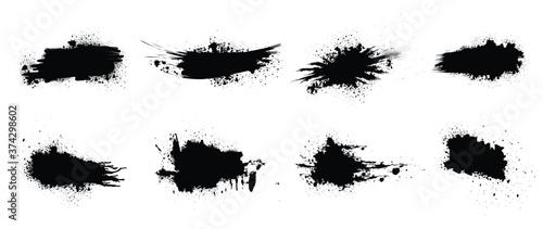 Fotografie, Obraz Black paint vector