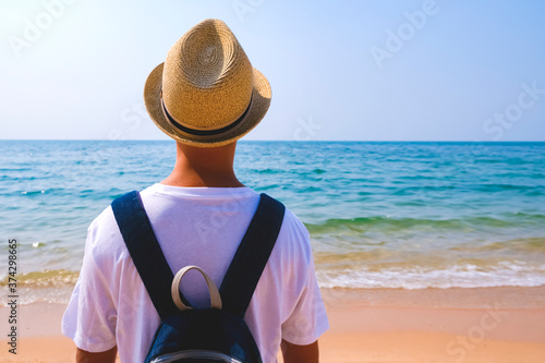 Photo Summer holidays, travel, tourism and vacation concept