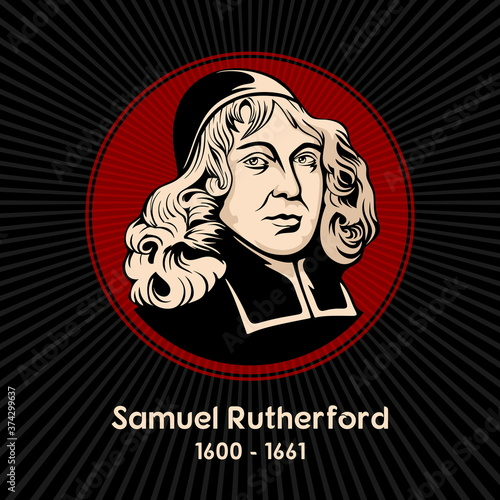 Samuel Rutherford (1600 - 1661) was a Scottish Presbyterian pastor, theologian and author, and one of the Scottish Commissioners to the Westminster Assembly Canvas Print
