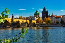 Scenic View Of Autumn Prague C...