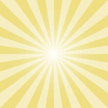 Yellow Color Burst Background. Flax Yellow Sunburst Background. Abstract Sunburst Background Design For Various Purposes.